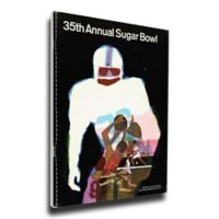 1969 Sugar Bowl Arkansas vs. Georgia Football Bowl Game Wall Art