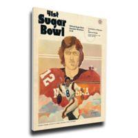 1974 Sugar Bowl Nebraska vs. Florida Football Bowl Game Wall Art
