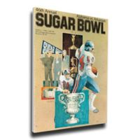 1980 Sugar Bowl Alabama vs. Arkansas Football Bowl Game Wall Art