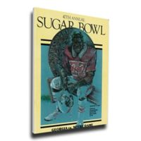 1981 Sugar Bowl Georga vs. Notre Dame Football Bowl Game Wall Art