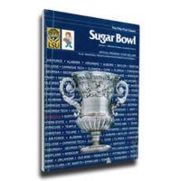 1985 Sugar Bowl Nebraska vs. LSU Football Bowl Game Wall Art
