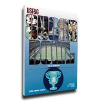 1987 Sugar Bowl Nebraska vs. LSU Football Bowl Game Wall Art