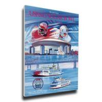 1990 Sugar Bowl Miami vs. Alabama Football Bowl Game Wall Art