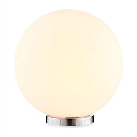Zuo® Accents Sun 1-Light Chrome Table Lamp with Frosted Glass