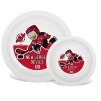 NHL New Jersey Devils Plate & Bowl Set