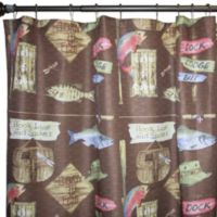 Born to Fish 70-Inch x 72-Inch Fabric Shower Curtain