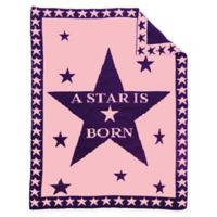 """BK KNITS """"A Star is Born"""" Baby Blanket in Pink/Purple"""