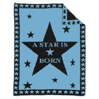 "BK KNITS ""A Star is Born"" Baby Blanket in Blue/Grey"