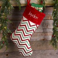 Pleasant Chevron Pattern Personalized Christmas Stocking