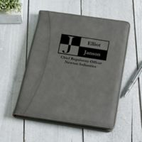 Sophisticated Style Personalized Portfolio - Charcoal