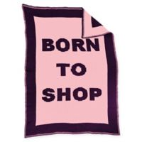 """""""Born to Shop"""" Blanket in Pink/Purple"""
