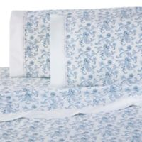 Martex Provence Lace Hem King Sheet Set in Blue