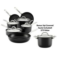 Circulon® Ultimum™ Forged Aluminum Nonstick 11-Piece Cookware Set in Black