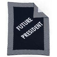 """Future President"" Baby Blanket in Black/White"