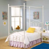Hillsdale Furniture Westfield Canopy Metal Full Bed Set with Canopy Kit and Rails