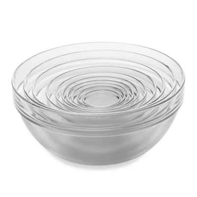 10-Piece Tempered Glass Nesting Mixing and Prep Bowl Set