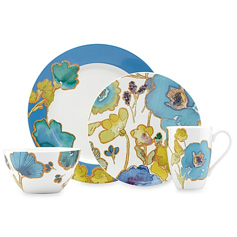 Lenox® Floral Fusion Blue 4-Piece Place Setting