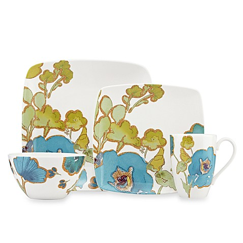 Lenox® Floral Fusion Blue 4-Piece Square Place Setting