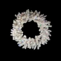 36-Inch Pre-Lit LED Snow White Christmas Wreath