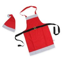 Northlight 2-Piece Santa Claus Apron and Hat Set in Red
