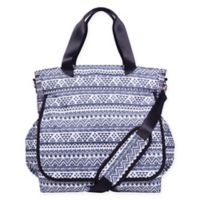Trend Lab® Aztec-Inspired Tote Diaper Bag in Black/White