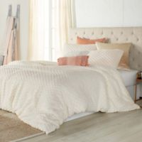 Peri Home Cable Knit Sherpa Twin Comforter Set in Ivory