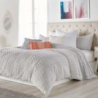 Peri Home Cable Knit Sherpa Twin Comforter Set in Grey