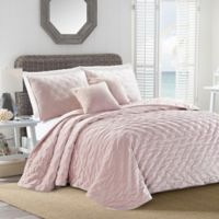 Sherry Kline Dot Luxe Embroidered Queen Quilt Set in Blush