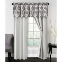 Parker 84-Inch Rod Pocket Window Curtain Panel Pair in Silver/Grey