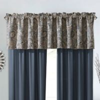 Courtland Window Valance in Slate/Gold