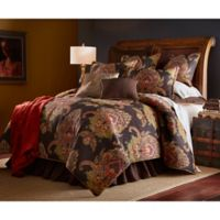 Sherry Kline Regal King Comforter Set in Black