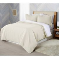 Solid Flannel Full/Queen Duvet Cover Set in Ivory