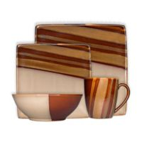Sango Avanti 16-Piece Dinnerware in Brown