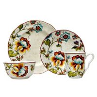 222 Fifth Bella Vista 16-Piece Square Dinnerware Set in Cream