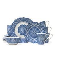 222 Fifth Avenue Lyria 16-Piece Dinnerware Set in Blue