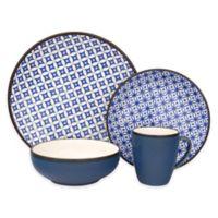 Sango Crystal 16-Piece Dinnerware Set in Blue