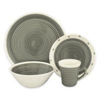 Sango Rico 16-Piece Dinnerware Set in Grey