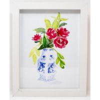 Floral & Botanical 14-Inch x 1.25-Inch Framed Wall Art