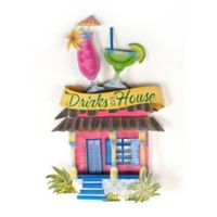 Drinks On the House Metal Wall Art