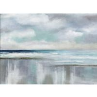 Masterpiece Art Gallery Cyan Sunrise 36-Inch x 24-Inch Canvas Wall Art