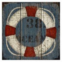 Masterpiece Art Gallery Coastal Wheel 24-Inch x 24-Inch Canvas Wall Art