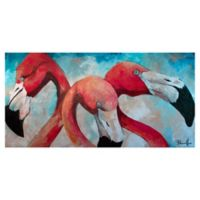 Masterpiece Art Gallery Flamingo Joes 17-Inch x 34-Inch Canvas Wall Art