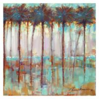 Masterpiece Art Gallery Palms at Dusk 30-Inch x 30-Inch Canvas Wall Art