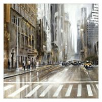Masterpiece Art Gallery Rush Hour Square 24-Inch x 24-Inch Canvas Wall Art