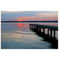 Masterpiece Art Gallery Twilight Pier I 24-Inch x 36-Inch Canvas Wall Art