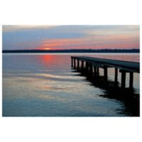Masterpiece Art Gallery Twilight Pier I 30-Inch x 40-Inch Canvas Wall Art