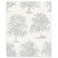 Graham & Brown Enchanted Tree Wallpaper in Silver