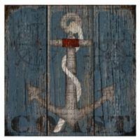 Masterpiece Art Gallery Coastal Anchor 24-Inch x 24-Inch Canvas Wall Art