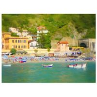 Masterpiece Art Gallery Coastal Italia II 16-Inch x 20-Inch Canvas Wall Art