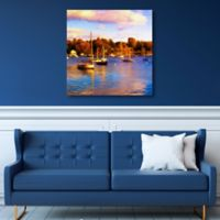 Masterpiece Art Gallery Autumn Harbor 35-Inch x 35-Inch Canvas Wall Art